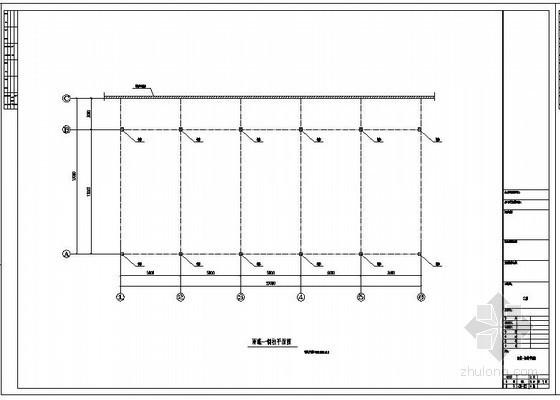 某12米单坡雨篷结构设计图