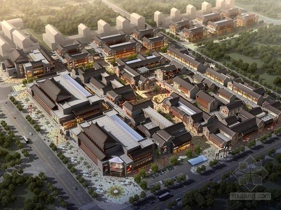 [山东]仿古小镇步行街修建规划设计方案文本(含CAD)