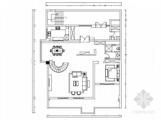 [安徽]中端私人墅区豪华欧式风格两层别墅装修施工图(含效果)