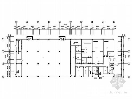 [胶州]技术产业开发区高档现代厂房装修施工图(含效果)