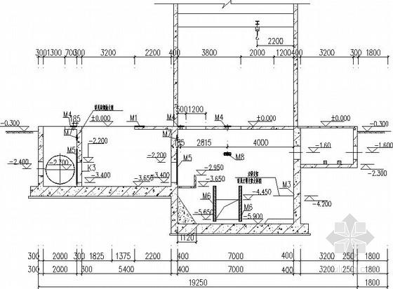 粗格栅间、泵房、水质监测室施工图