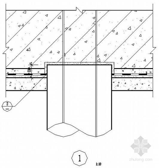 地下室桩头防水构造节点图