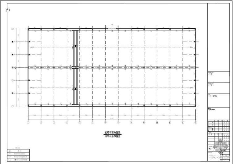 某石材钢结构厂房方案图(包括结构计算)