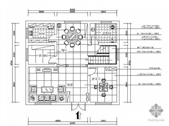 [湖南]两层屋顶简欧欧式别墅设计图