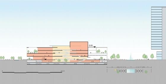 城市滨水地块规划剖面图