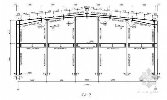 [河南]24米垮钢结构厂房结构施工图(原创 双层 独立基础)