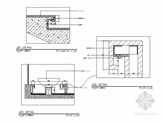 [新疆]1200㎡现代风格会所室内装修施工图(含实景图)详图