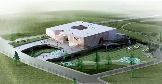 [云南]方形透明屋顶综合性甲级体育馆建筑设计方案文本(含三套方案)
