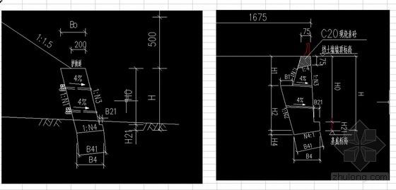 衡重式挡土墙工程量计算(EXCEL)模板