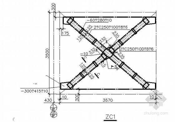 21m钢结构连廊详图