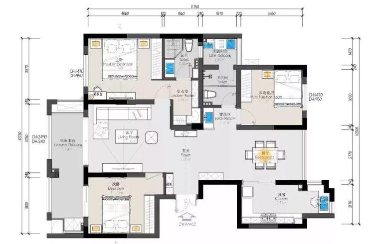 120平的现代北欧风三居室,简单轻松却也舒适的家