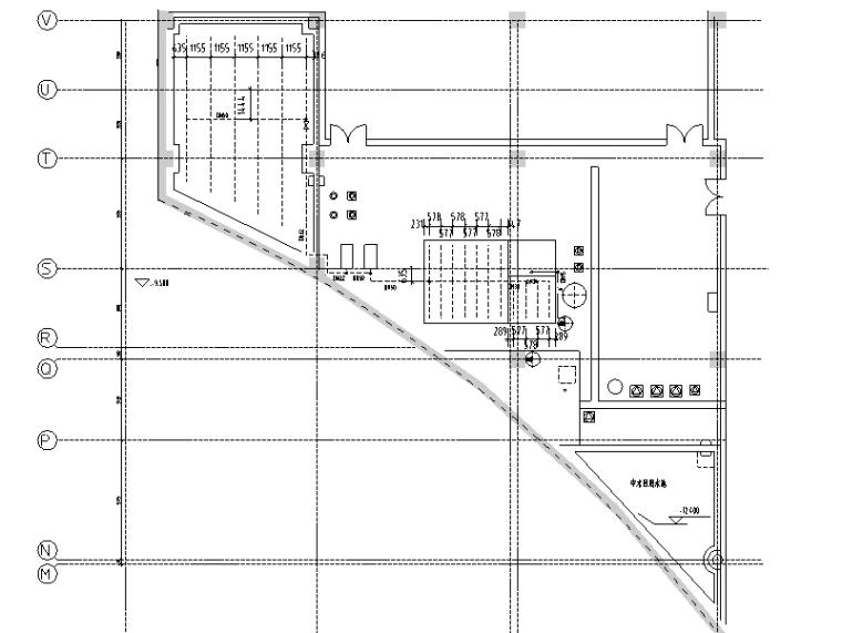 北京商业大型工业中水站施工图设计图