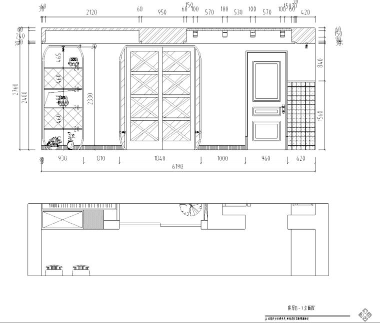 某东南亚风格住宅室内装修施工图(含效果图)