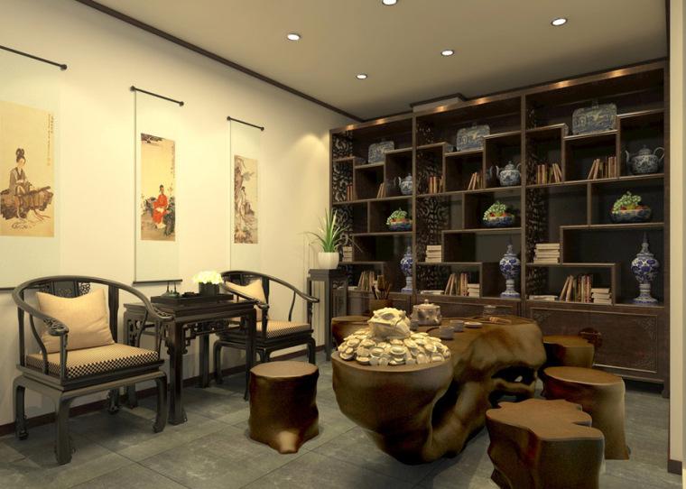 接待室.茶室设计案例效果图