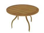 圆形木桌3D模型下载