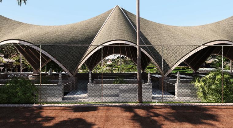 印尼带有运动感和节奏感的网球俱乐部效果图 (1)
