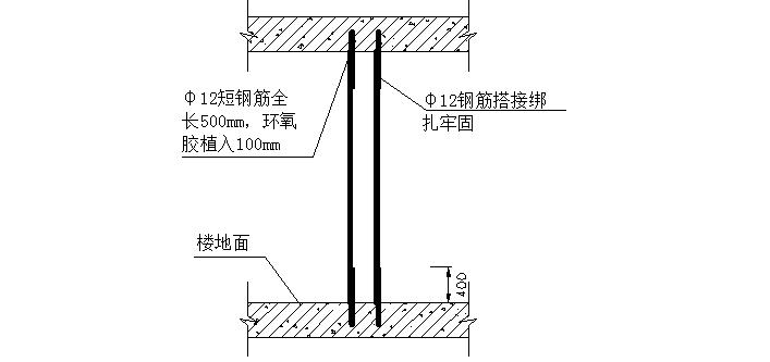 填充墙构造柱与主体结构拉结作法