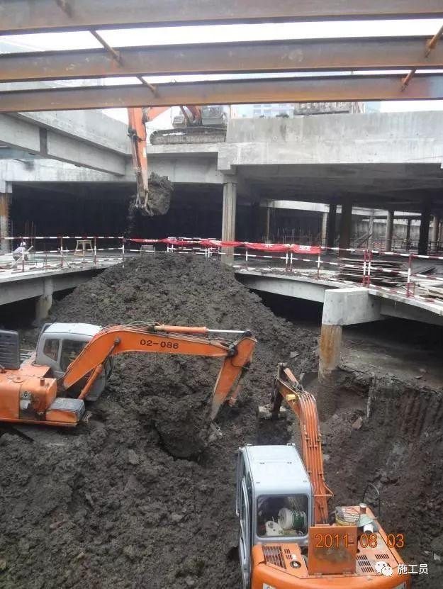 【图解案例】超高层建筑22米深基坑逆作法施工现场,看基础如何倒_21