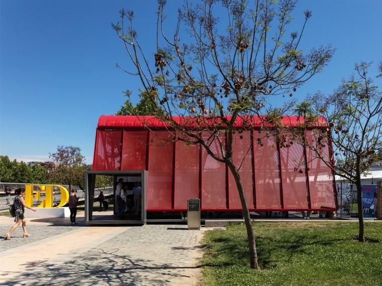 智利圣地亚哥展会入口亭装置-1