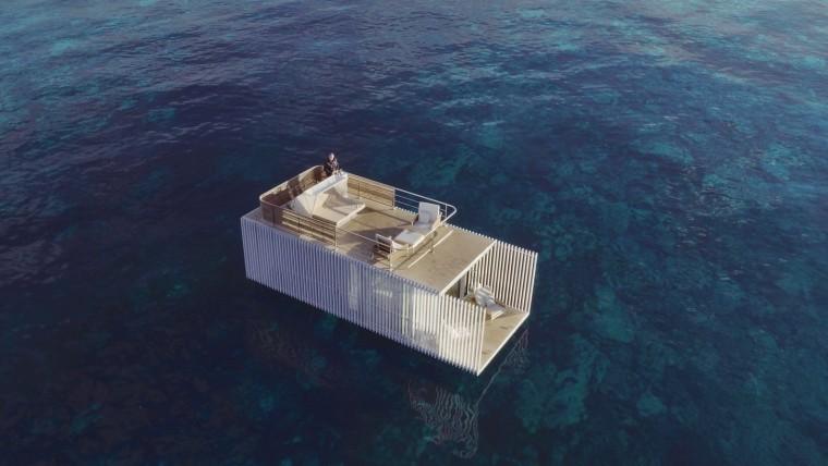 西班牙与大海融为一体的浮动别墅-5