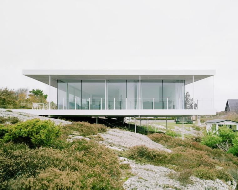 瑞典希辛延岛海边小屋