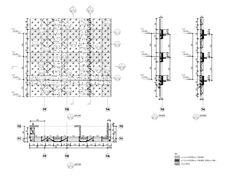 沈阳2栋高层住宅楼幕墙施工图2015_含计算书-幕墙大样图