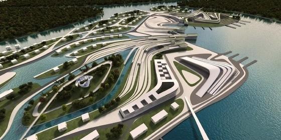 [河北]科技化滨水岛屿未来生态旅游景观规划设计方案-鸟瞰图