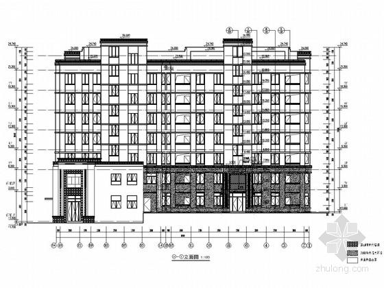 3500平七层框架结构带商业网点住宅楼结构施工图(含建筑图)