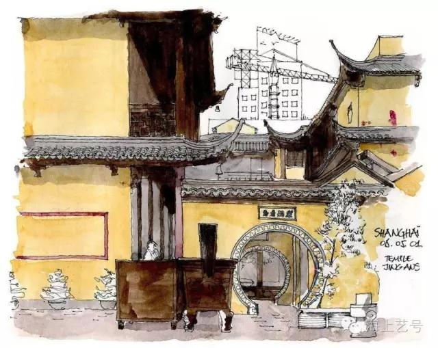 从国外建筑师手绘表现看色彩原理的应用_7