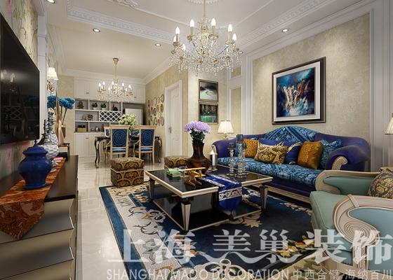 两室两厅89平装修效果图——客厅沙发背景墙设计建业春天里装修效