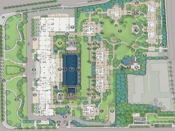 [杭州]都市优雅别墅庭院景观设计方案(图纸精美)