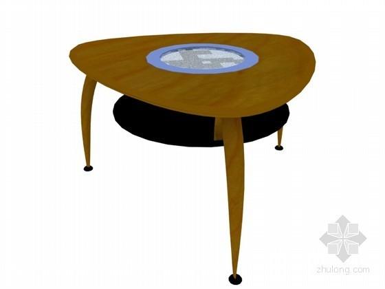 椭圆形茶几3D模型下载