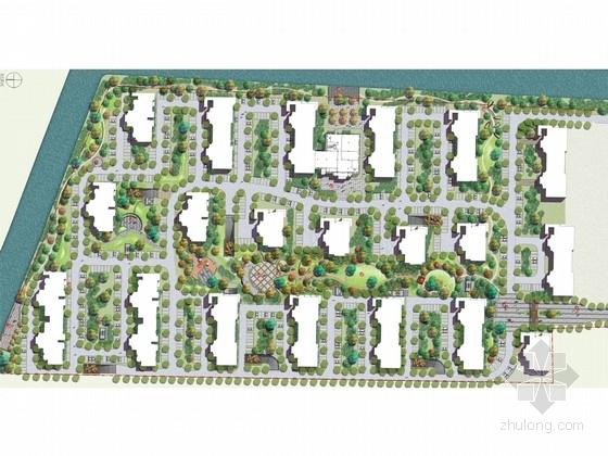 [江苏]精致生态人文居住区园林景观规划设计方案