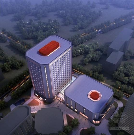 [北京]高层八角形高等院校文体中心及宿舍建筑设计方案文本(含CAD)