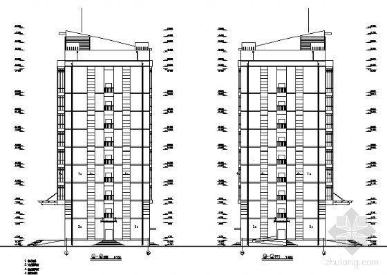 某厂区九层办公楼建筑方案图-2