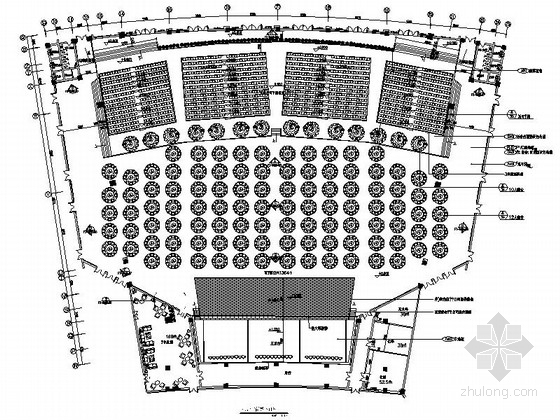 [山东]某现代风格会展中心室内装修施工图(含效果)