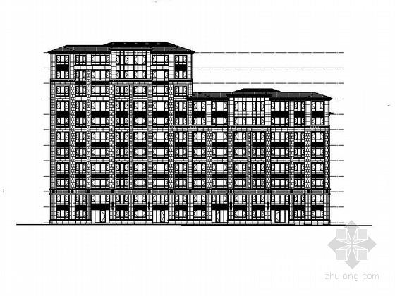 [大连]高层平坡屋面混合住宅建筑施工图