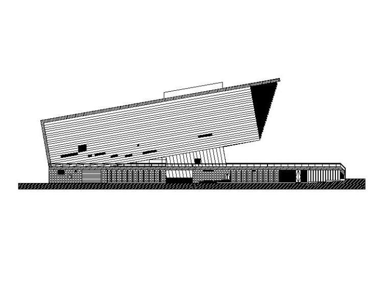 [山西]多层悬挑式综合型规划展览馆建筑施工图