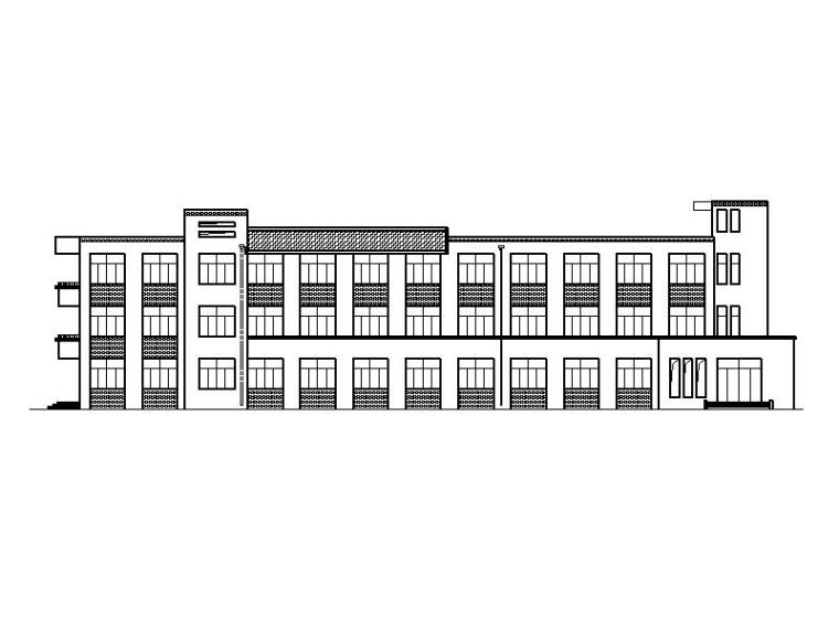 [宁夏]市级现代风格中学宿舍楼及食堂施工图