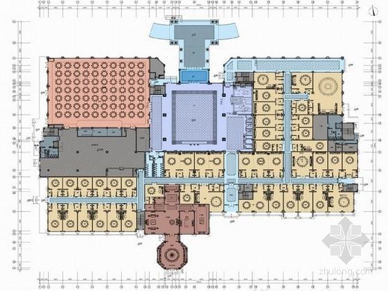 [江苏]豪华欧式风格各国餐饮风味饮食中心装修设计方案