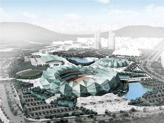 [广东]世界大学生运动会体育中心设计方案文本(国际知名事务所)