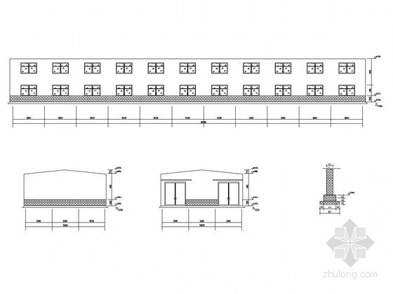 15米跨钢结构厂房方案图(带夹层)