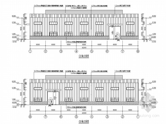 35米跨门刚结构家具公司厂房建筑结构施工图(LDA型电动单梁起重机)