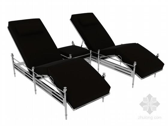 现代休闲躺椅3D模型下载