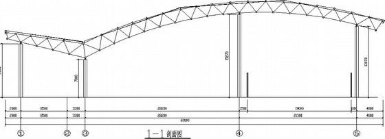 [四川]震后学校风雨操场网架结构施工图