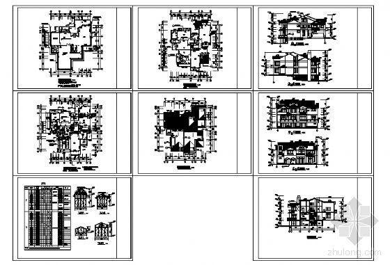 某三层别墅建筑方案图-4