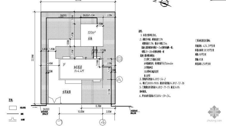 某农村供水加压泵房设计图