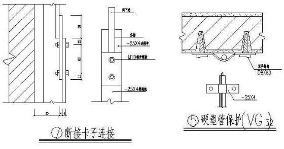 建筑电气设计图例防雷设施大样