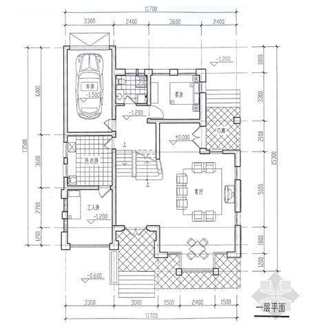 某别墅平面图及效果图1