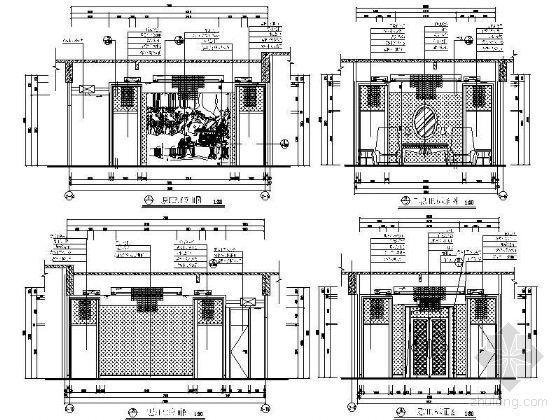 VIP包厢装修资料下载-豪华VIP包厢立面设计图Ⅰ